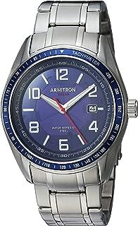 Men's 20/5252NVSV Solar Powered Date Calendar Dial Silver-Tone Bracelet Watch