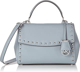 Ava Small Studded Leather Satchel