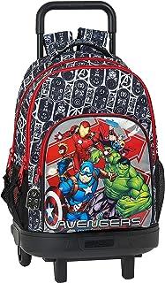 Mochila Escolar con Carro Incluido y Espalada Acolchada de Avengers, Heroes