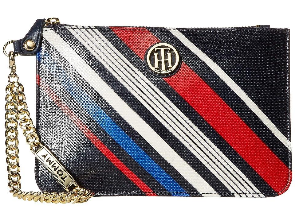 Tommy Hilfiger Serif Wristlet (Navy/Multi) Wristlet Handbags