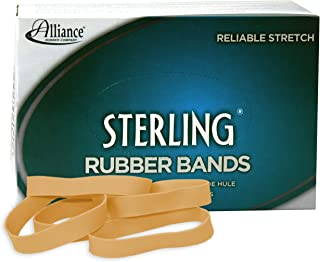 Alliance Rubber 24825 Sterling Rubber Bands Size #82, 1 lb Box Contains Approx. 300 Bands (2 1/2