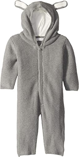 Acorn Wool Zip-Up One-Piece w/ Ears (Infant)