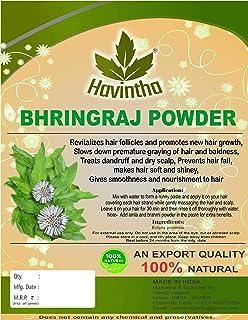 Havintha Bhringraj Powder For Hair Growth Split Ends Nourishment Dandruff Moisturising - 227 grams