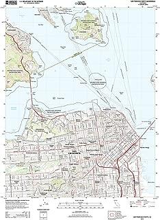 Topographic Map Poster - SAN Francisco North, CA TNM GEOPDF 7.5X7.5 Grid 24000-SCALE TM 2012, 19
