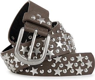 cinturón de remaches con estrellas y tachuelas en estilo «vintage», acortable 03010030