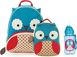 Skip Hop Zoo Backpack, Lunchie, and Bottle Set - Owl