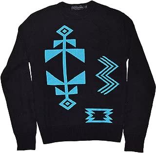 Ralph Lauren Polo Black Label Mens Crewneck Sweater Linen Cashmere Indian Blue