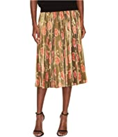 Kate Spade New York - Hazy Rose Pleated Lame Skirt