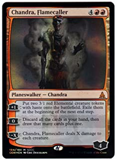 Magic SDCC 2016 The Gathering Exclusive Planeswalker Zombie Chandra, Flamecaller Foil Card