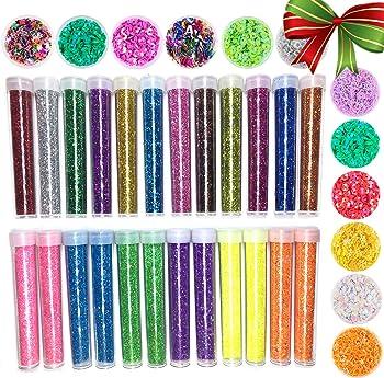 Slime Supplies Glitter Powder Sequins kit Colorful Glitter Jars