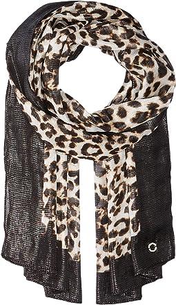 Calvin Klein - Leopard Liquid Lurex Scarf