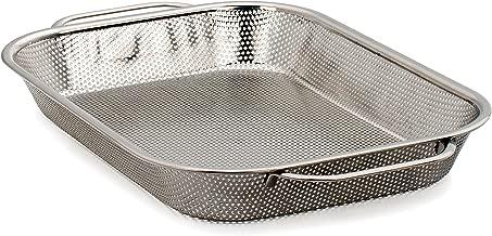 RSVP International Endurance (BQ-RP) BBQ Precision Pierced Roasting Pan, Stainless Steel   17.5