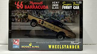 AMT Model King 21433P 1966 Plymouth Barracuda Hemi Under Glass Super Boss Funny Car 1:25 Scale Plastic Model Kit - Requires Assembly