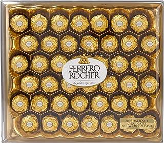 Ferrero Rocher Fine Hazelnut Milk Chocolates, 42 Count Chocolate Candy Gift Box, 18.5 oz (525g)