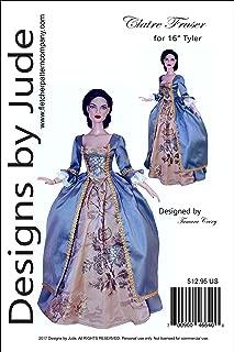 Outlander Claire Fraser Dress Pattern for 16