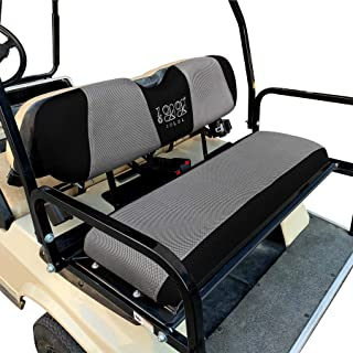 "10L0L Universal Golf Cart Rear Seat Cover Set Fit for EZGO Club Car Yamaha, Bench Seat Covers Breathable Washable Polyester Mesh Cloth - Only for Rear Seat (37.5"" 13.5"" 3.7"") - X-Small"