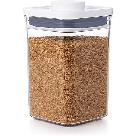 OXO Good Grips Boîte de conservation POP – Boîte de rangement alimentaire hermétique et empilable pour la cuisine - Carré, Petit format 1 L