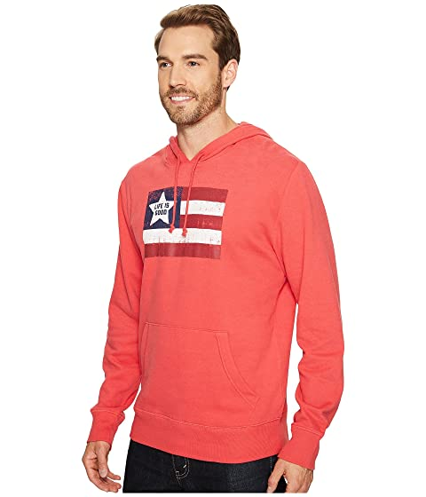 Hoodie Go To Americana Good Life Red is Flag XUqH1xnz7w