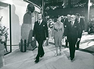Vintage photo of King Carl XVI Gustaf, Queen Silvia and President Henry Allard at the opening of the Riksdag