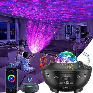 Projecteur Ciel Etoile, Projecteur à LED IKHDCYHLED, enceinte Bluetooth/Contrôle vocal/Connexion WiFi/Minuterie, Compatibl...