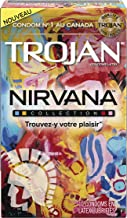 TROJAN Nirvana Collection Variety Pack Lubricated Latex Condoms, 10 Count