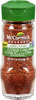 McCormick Gourmet Citrus, Chile & Garlic With Chia, 2.12 oz