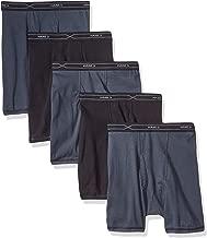 Hanes Red Label Men's X-Temp Comfort Cool 5-Pack Black/Gray Boxer Briefs