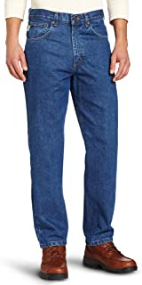 Men's Relaxed Fit Tapered Leg Jean Darkstone 44 34
