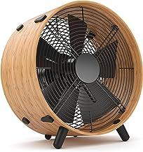 Ventilateur Otto par Stadler Form, avec anneau en bambou moderne, trois niveaux de vitesse, idéal en été et pour le burea...