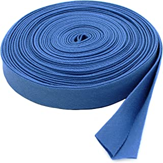 "Double-fold Bias Tape 1/2"" Wide ~ Poly Cotton (5 Yards, Blue)"