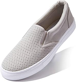 DailyShoes Unisex Flat Memory Foam Cushioned Insole Casual Slip-On Loafers Sneakers Shoes
