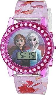 ساعة ديزني كوارتز مع حزام بلاستيكي، متعددة الألوان، 15 سم (FZN4509AZ)