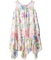 Chiffon Floral Print Trapeze Dress (Toddler/Little Kids)