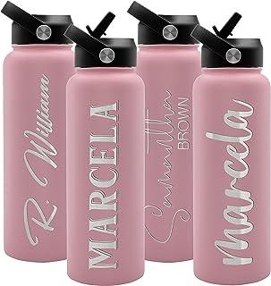 Water BottleGlitter Ombr\u00e9 Water BottleCustom Water BottlePersonalized Bottle Alcohol inked bottle