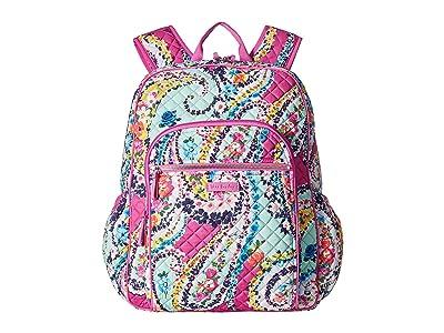 Vera Bradley Iconic Campus Backpack (Wildflower Paisley) Backpack Bags