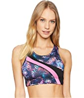 Printed Asymmetrical Sports Bra
