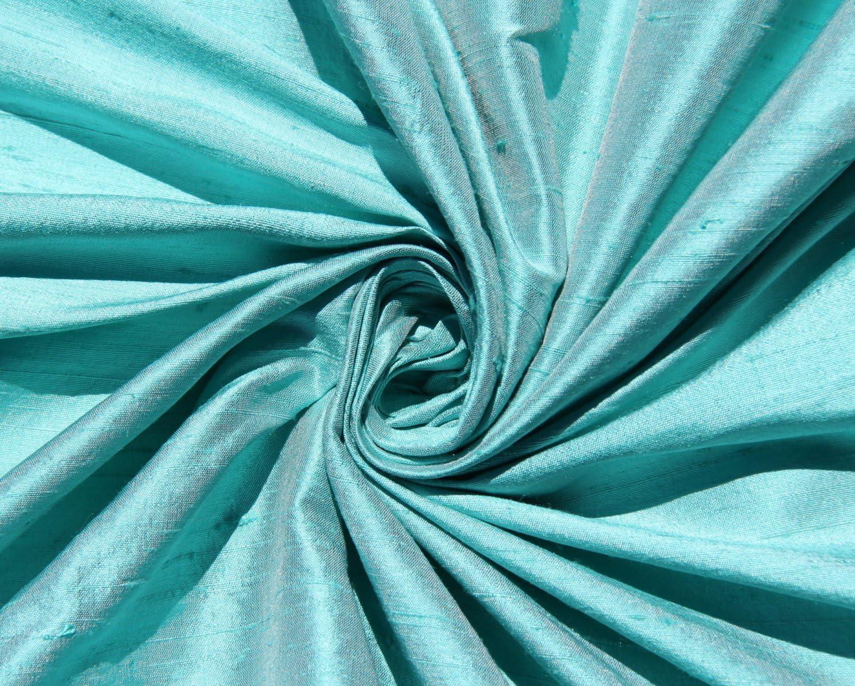 Robin Blue 100/% Fine Silk Dupioni