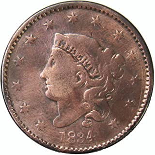 1834 Coronet Head Large Cent 1¢ Circulated