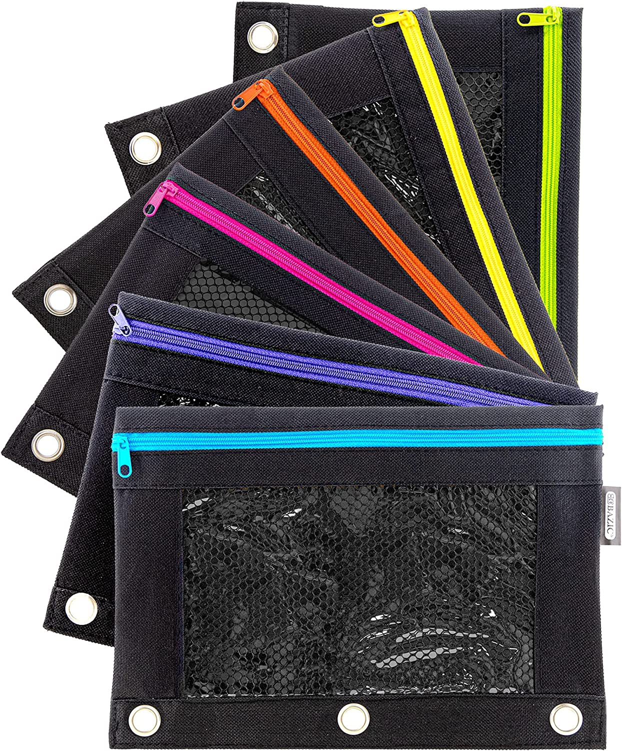 BAZIC Pencil Pouch 3 Max 64% OFF Ring sale Binder Holes Rings M Enforced w