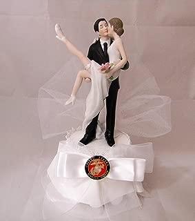 Wedding Reception Cake Topper Military Marine Sexy Bride