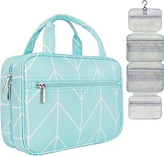 PAVILIA Hanging Travel Toiletry Bag Women   Cosmetics Makeup Organizer Kit