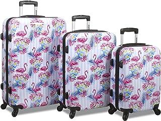 Rolite Flamingo 3-Piece Hardside Spinner Luggage Set