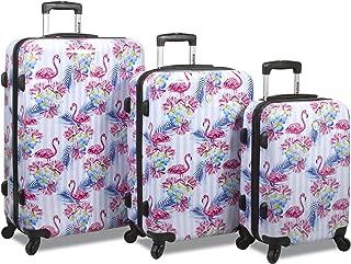 Flamingo 3-Piece Hardside Spinner Combination Lock Luggage Set
