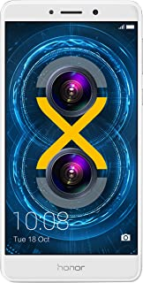 Huawei Honor 6X UK SIM-Free Unlocked Smartphone Cellphone - 32GB - Silver - International Version with No Warranty