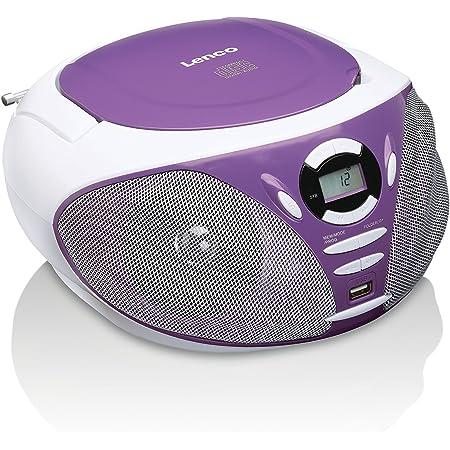 Lenco Scd 300 Tragbares Stereo Fm Radio Cd Und Mp3 Player Boombox Mit Usb Wiedergabe Violett Audio Hifi
