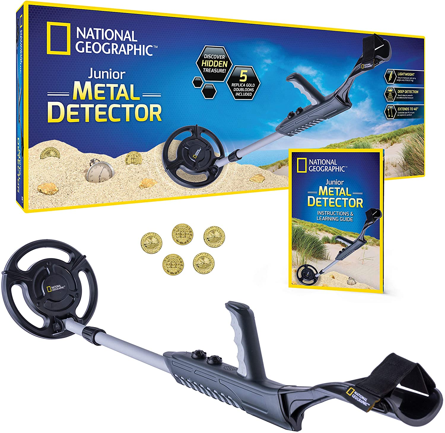 NATIONAL GEOGRAPHIC Junior Metal Detector Los Angeles Mall Wat for 7.5