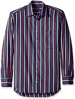 Gitman Blue Men's Stripe Spread Collar Sport Shirt
