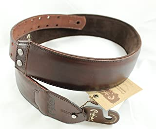 Right On! Straps LEATHERCRAFT Vintage/Brown Guitar Strap Made in Spain