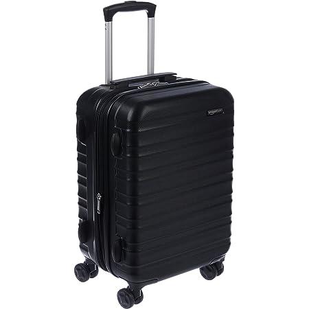 Amazon Basics Valise de voyage à roulettes pivotantes, Noir, 55 cm