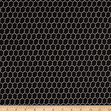 Whistler Studios 108'' Quilt Back Chicken Wire Black Fabric by the Yard
